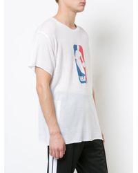 The Elder Statesman White Nba Logo T-shirt for men
