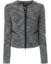 Armani Jeans - Blue Fitted Jacket - Lyst