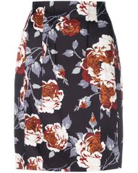 Theory - Black Hourglass High Waist Skirt - Lyst