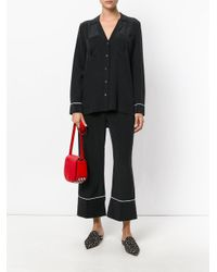 Equipment - Black Piped Trim Pyjama-style Trousers - Lyst