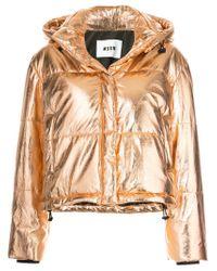 MSGM   Metallic Padded Jacket   Lyst