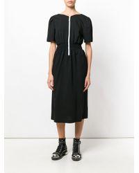 Julien David - Black Lace Embroidered Dress - Lyst
