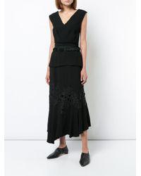 Derek Lam - Blue Midi Skirt With Lace Detail - Lyst