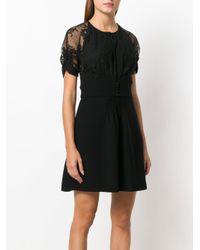 Miu Miu - Black Lace Sleeve Mini Dress - Lyst