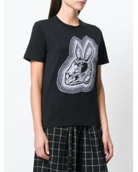 McQ Alexander McQueen - Black Bunny Be Here Now T-shirt - Lyst