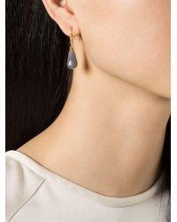 Wouters & Hendrix - Gray Grey Agate Drop Earrings - Lyst