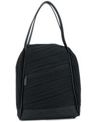 Pleats Please Issey Miyake Black Pleated Tote Bag