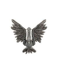 Lanvin - Metallic Embellished Bird Brooch - Lyst