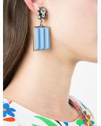 Marni - Blue Bevelled Pendant Earrings - Lyst