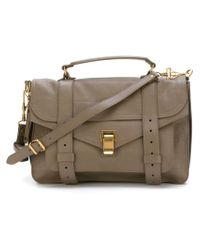 Proenza Schouler | Gray Medium Ps1 Leather Satchel | Lyst