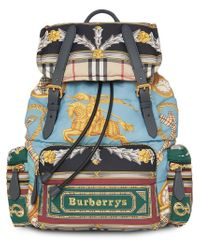 Burberry The Large Rucksack In Archive Scarf Print in Blue for Men ... 1bca640e00