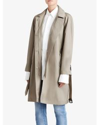 Burberry - Natural Hooded Trench Coat - Lyst