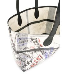 Burberry - White Giant Reversible Tote - Lyst