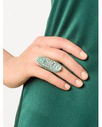 Venyx - Green 'lady Caiman' Ring - Lyst