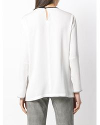 Max Mara - White Loose Fit Blouse - Lyst