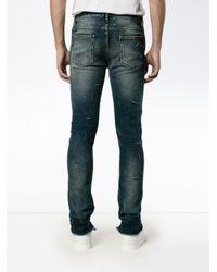 Maison Margiela | Blue Distressed Effect Skinny Jeans for Men | Lyst