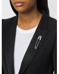 Karl Lagerfeld - Metallic Safety Pin Brooch - Lyst