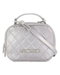 Love Moschino Metallic Quilted Shoulder Bag