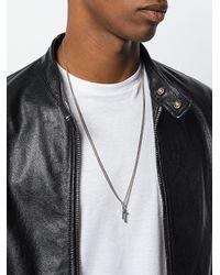 DSquared² - Metallic Doppelte Halskette mit Kreuzanhängern for Men - Lyst