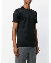 Lanvin Black Dinosaur Embroidered T-shirt for men
