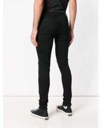 Represent - Black Distressed Skinny Jeans for Men - Lyst