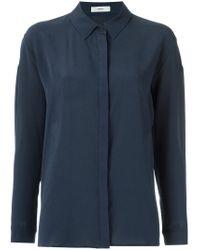 Egrey - Blue Silk Shirt - Lyst