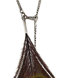 Ann Demeulemeester - Multicolor Collar con detalle de plumas de pavo real for Men - Lyst