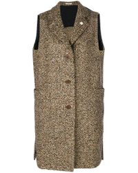 Lardini | Brown Long Line Gilet | Lyst