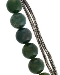 Emanuele Bicocchi Green Beaded Chain Bracelet