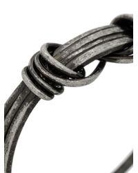 Saint Laurent - Metallic Knot Design Bracelet for Men - Lyst