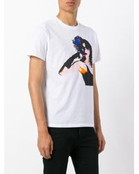 N°21 - White Digital Print T-shirt for Men - Lyst