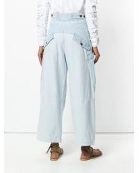 Chloé - Blue Wide Leg Pocket Trousers - Lyst