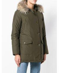 Woolrich - Green Fur Trimmed Hood Parka - Lyst