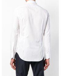 Emporio Armani - White Lined-bib Formal Shirt for Men - Lyst