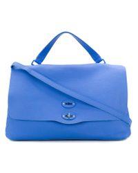 Zanellato - Blue Large Foldover Shoulder Bag - Lyst