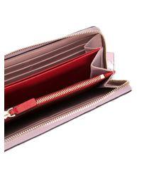Valentino - Pink Portafogli Continental ' Garavani Spike' - Lyst