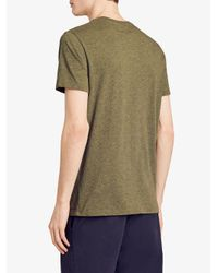 Burberry - Green Logo Print T-shirt for Men - Lyst