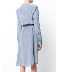 Robert Rodriguez - Blue Belted Stripe Shirt Dress - Lyst