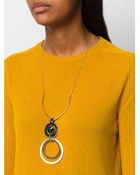 Marni - Multicolor Circle Link Drop Necklace - Lyst