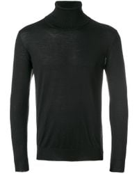 Eleventy - Black Turtleneck Jumper for Men - Lyst