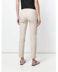 Twin Set - Natural Slim-fit Trousers - Lyst