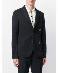 Wooyoungmi - Blue Logo Patch Blazer for Men - Lyst