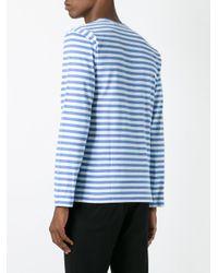 Play Comme des Garçons - Blue Comme Des Garçons Play Striped T-shirt for Men - Lyst