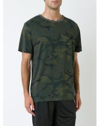 The Upside - Green Camouflage Print Jack T-shirt for Men - Lyst