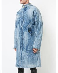 Fear Of God - Blue Zip Denim Coat for Men - Lyst