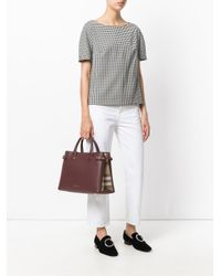 Burberry - Red House Check Tote Bag - Lyst