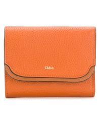 Chloé - Orange Easy Small Tri-fold Wallet - Lyst
