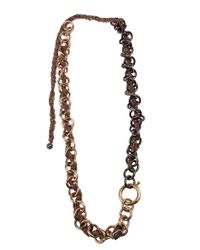 Rosantica - Gray Chunky Chain Necklace - Lyst