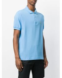 Lacoste - Blue Logo Embroidered Polo Shirt for Men - Lyst