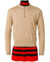 J.W. Anderson - Brown Double Layer Jumper for Men - Lyst